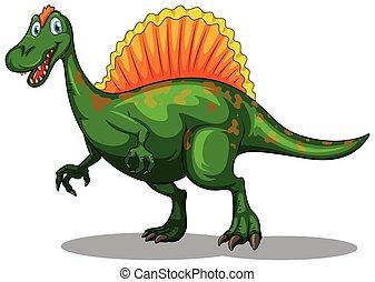 Green dinosaur with sharp teeth