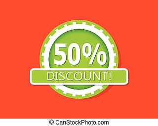 Green Discount Badge