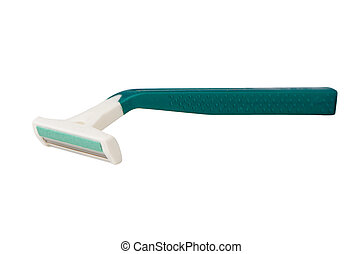 Green disposable razor