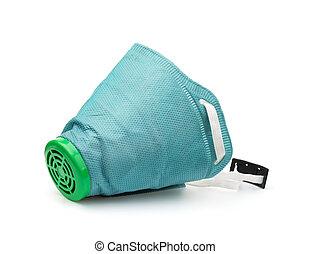 Green disposable respirator
