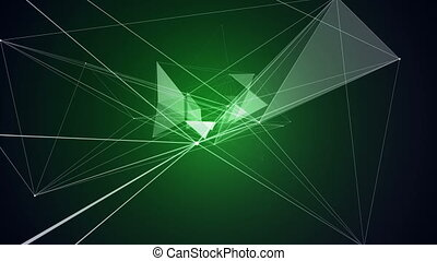 Green DNA Triangle Animation Arts Background Biochemistry...