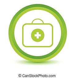 Green doctor bag icon