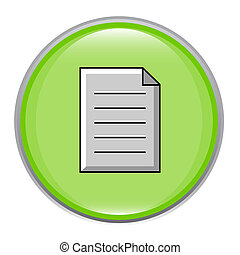 Green glossy document icon.