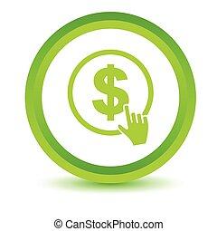 Green Dollar click icon