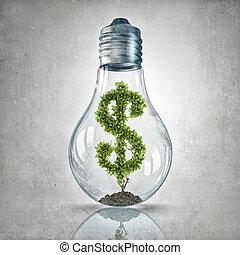 Green dollar concept