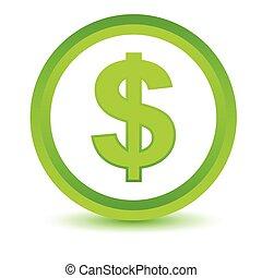 Green dollar icon