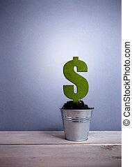Green dollar sign plant
