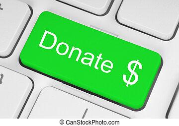 Green donate button