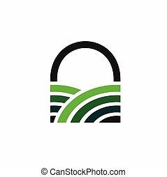 Green Door vector logo template