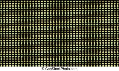 green dots neon light, disco stripe