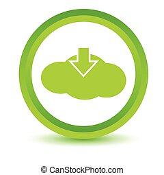 Green download cloud icon