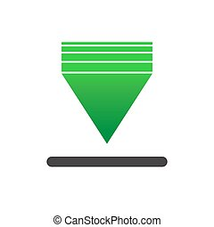 Green Download icon. New trendy download vector illustration symbol.
