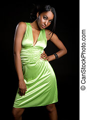 Green Dress Woman