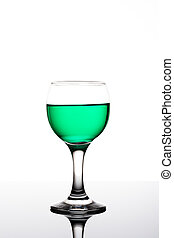 Green Drink - Classy colrfull backlit glass with green drink...