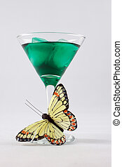 Green drink. - Green drink isolated on white background.