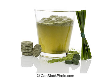 Green drink. - Green drink with green chlorela and spirulina...