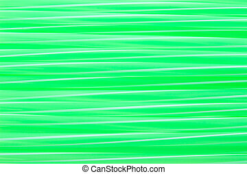 Green drinking straw with white stripe