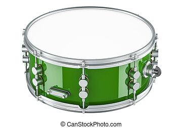 Green drum, 3D rendering