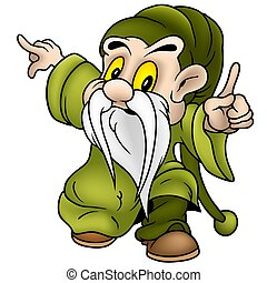 Green Dwarf - Dwarf 10 - colored cartoon illustration