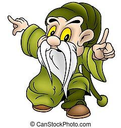 Green Dwarf - Dwarf 10 - colored cartoon illustration