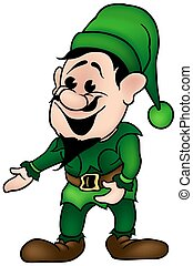 Green Dwarf - colored cartoon illustration