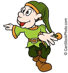Green Dwarf Walking