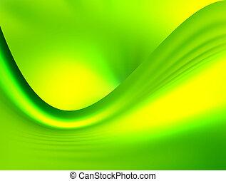 green dynamic waves