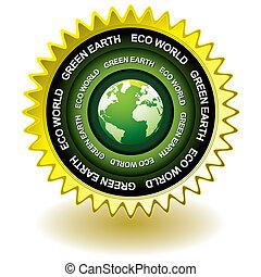 Green earth eco icon