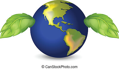 Illustration of the green earth
