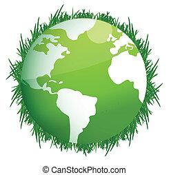 Green Earth. Illustration on white