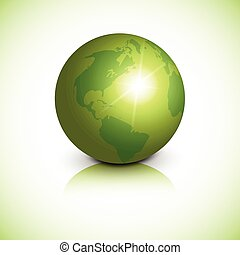 Green Earth Planet Health World Day Global Holiday Banner With Copy Space