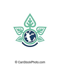 Green Earth Planet Nature Symbol