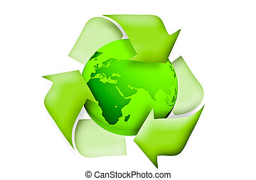 Green earth recycle concept