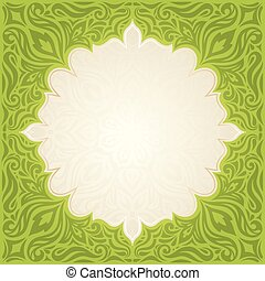 Green Easter floral wallpaper vector mandala design backround with copy space