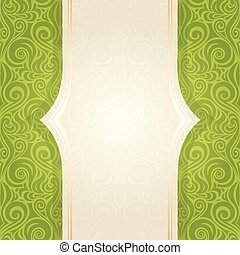 Green Easter floral wallpaper vector repeatable design backround with copy space
