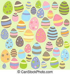 Green Easter seamless pattern with eggs