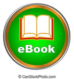Green ebook icon