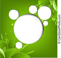 Green Eco Background With Web Speech Bubble