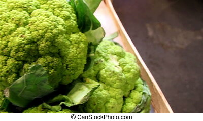Green eco broccoli on your veggies - Green broccoli on your...
