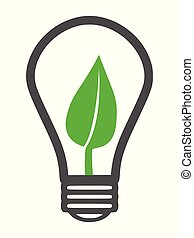 Green eco bulb energy concept vector icon