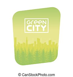 Green Eco City Background Design
