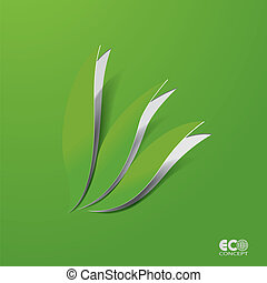 Green Eco concept - Abstract leaf.