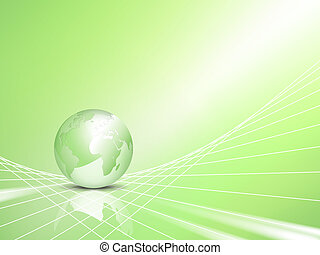 Green eco concept with globe