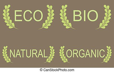 Green Eco Food Labels.