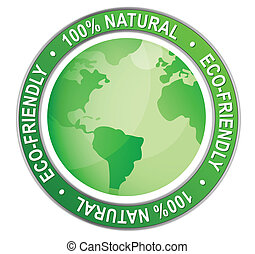 Eco-friendly logo. Vector file also available
