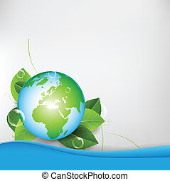 Green Eco Globe Background