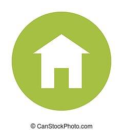 Green eco house image design