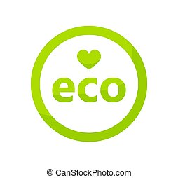 Green eco icon.