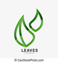 Green eco leaf logo