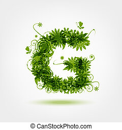 Green eco letter G for your design